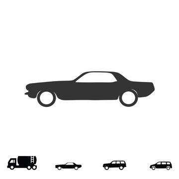 mustang car icon vector