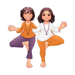 Wall Murals kids room Tree pose in Yoga