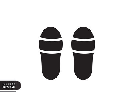 slippers black solid icon with modern design, isolated on white background. flat style for graphic design template. suitable for logo, web, UI, mobile app. vector illustration