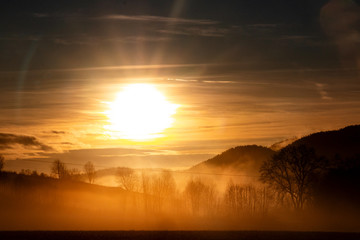 Sonnenuntergang Fototapete