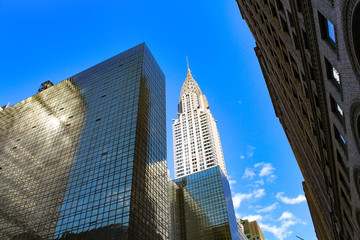 New York City, USA - April 30, 2015 : Chrysler Building from 42nd Street