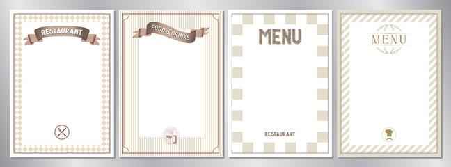 Foto op Canvas Restaurant Brown classic, retro, vintage restaurant menu templates - A4 format (210x297 mm)