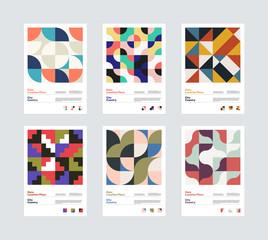 Geometrical Vector Poster Design Template Set