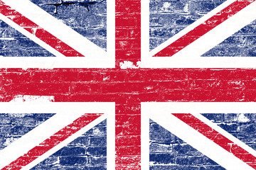 grunge flag of united kingdom
