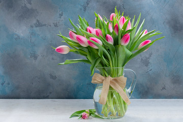 Foto op Canvas Tulp Pink fresh tulips
