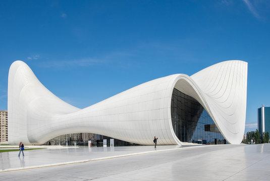 Haydar Aliyev Centre designed by architect Zaha Hadid