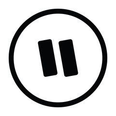 Pause button or pause icon