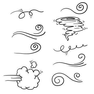 collection of doodle wind illustration vector handrawn style