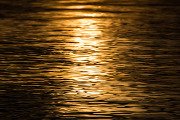 reflection of sun in water