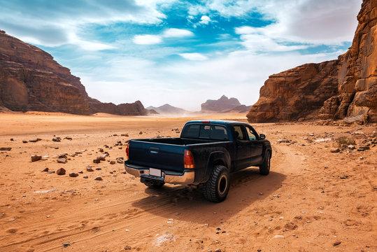 off road car in the desert