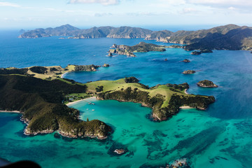 Scenic view Bay of Islands, North Island, New Zealand