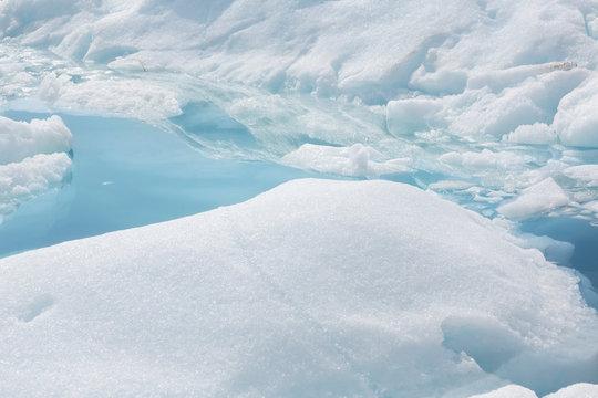 White ice melt Greenland