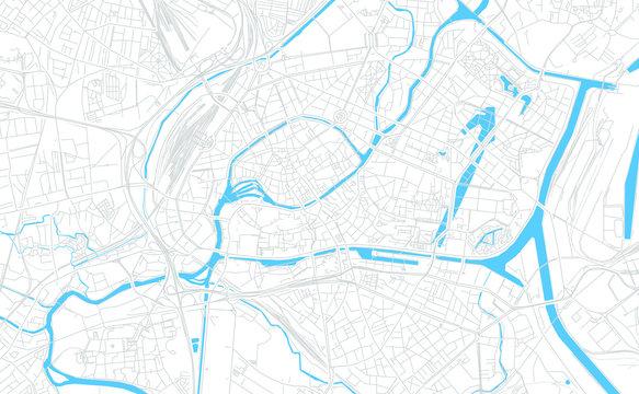 Strasbourg, France bright vector map