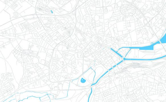 Caen, France bright vector map