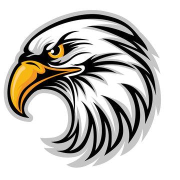Hawk Eagle Head USA  Logo Mascot Vector 04