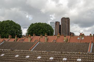 View across the rooftops of Southwark towards Waterloo