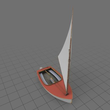 Modern sailboat