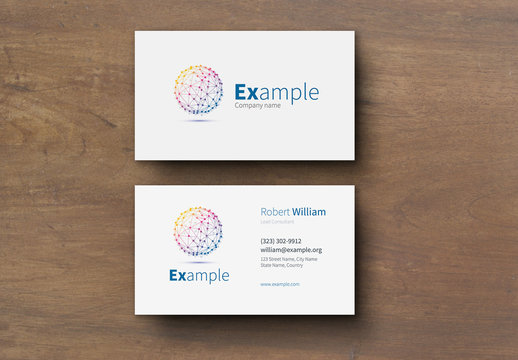 Classic Simple Business Card Layout