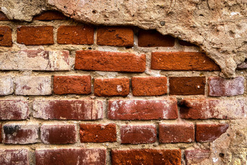 Red brick wall texture or background.