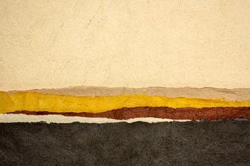 abstract paper landscape in earth tones