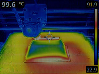 Temperature Distribution on Heat Bed of 3D Printer