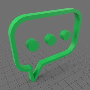 Stylized chat icon