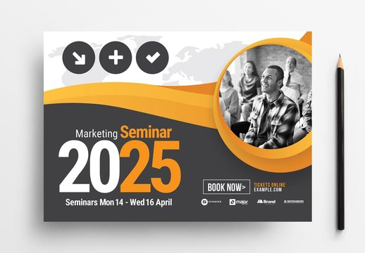 Business Event Flyer Template for Conferences and Seminars