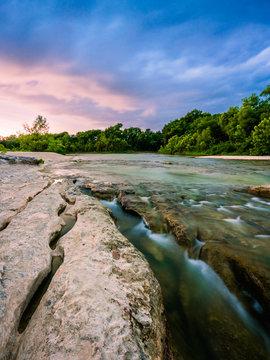 Long exposure of McKinney Falls State Park
