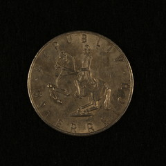 Rückseite einer ehemaligen Österreichischen 5 Schilling Münze