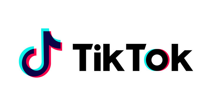 Tik Tok logo. Editorial vector. Kyiv, Ukraine - January 13, 2019