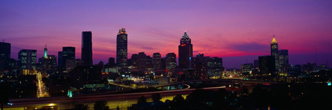 Atlanta Skyline, I-20, Georgia