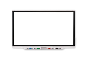 Interactive Whiteboard isolated and white background