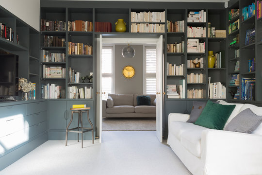 Luxury home showcase library