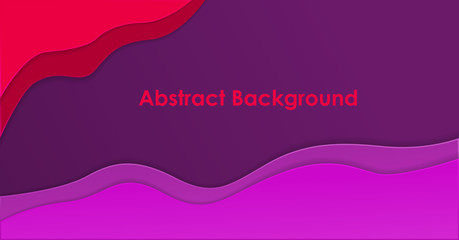 Canvas Prints Violet abstract aesthetic background with liquid paper cut layered in purple and red