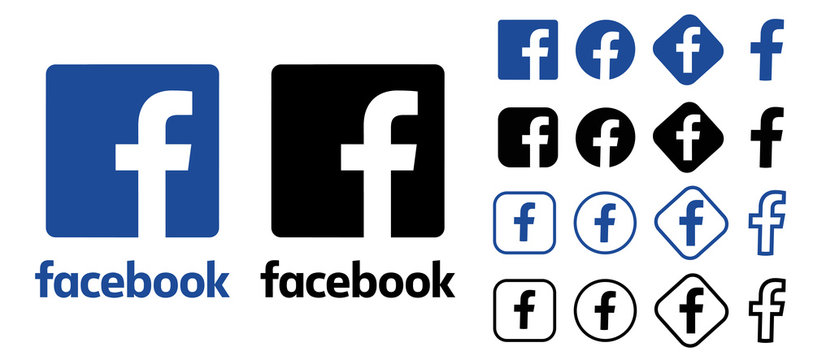 facebook logo. facebook button. facebook vector