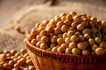 Soy bean as food background Fototapete
