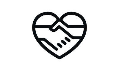 Charitable Giving vector design black and white