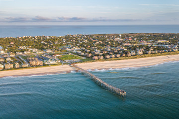 Aerial view of Outer Banks North Carolina
