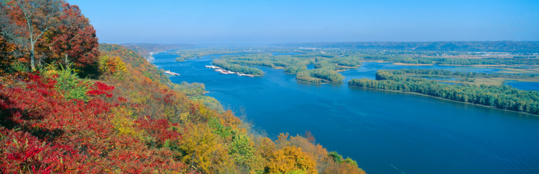 Confluence of Mississippi and Wisconsin Rivers, Iowa