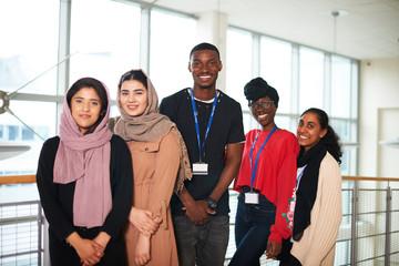 Portrait confident, multi-ethnic college students