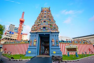 Foto auf Leinwand Kultstatte Sri Srinivasa Perumal Temple. This temple is one of the oldest Hindu temple in Singapore.