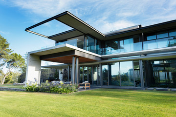 Modern, luxury home showcase exterior