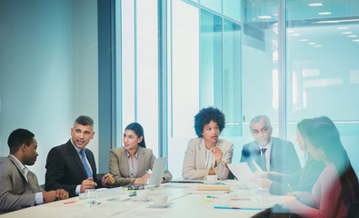 Business people planning in conference room meeting