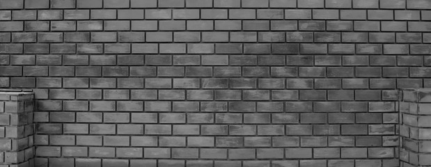 Brick wall surface or pattern, old black and white