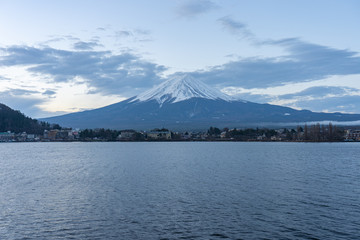Wall Mural - Lake Kawaguchiko with view of Fuji Mount in Japan