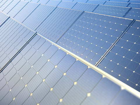 Photovoltaic panels, illustration