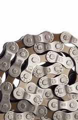 Bicycle chain coiled up