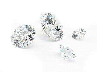 Diamond on white background, Illustration