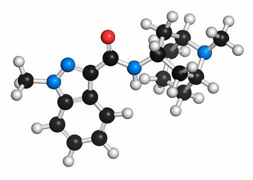 Granisetron nausea drug molecule