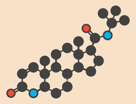 Finasteride baldness drug molecule